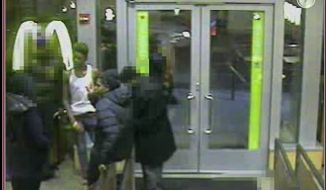 The D.C. Metropolitan Police Department on Thursday released security footage of three persons of interest in connection to the assault and robbery of Christopher Marquez, a former Marine. (Image: YouTube)