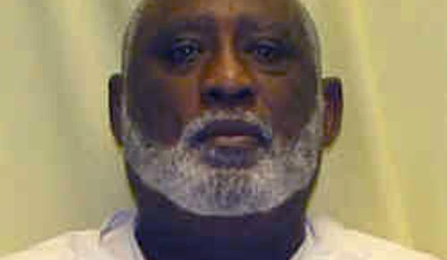 This undated photo provided by the Ohio Department of Rehabilitation and Correction shows a booking photo of James Frazier. The Ohio Supreme Court has set an execution date for the condemned killer over the objection of two justices who question establishing dates when the state doesn't have any lethal drugs. The court's 5-2 ruling scheduled Oct. 17, 2019 for Frazier to die for the 2004 slaying of a woman in the Toledo apartment building where both lived. (Ohio Department of Rehabilitation and Correction via AP)