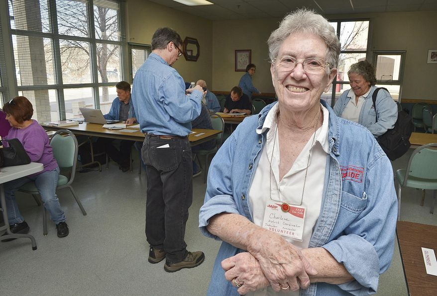 Charlene Gardner, seen in a Feb.11, 2016 photo, and an AARP Tax Aide leader, is a senior volunteer who has been heading the tax program for decades at the Senior Resource Development Agency in Pueblo, Colo. (John Jaques/The Pueblo Chieftain via AP) Charlene Gardner, an AARP Tax Aide leader, is a senior volunteer who has been heading the tax program for decades at the Senior Resource Development Agency in Pueblo, Colo. on Feb.11, 2016. (John Jaques/The Pueblo Chieftain via AP)