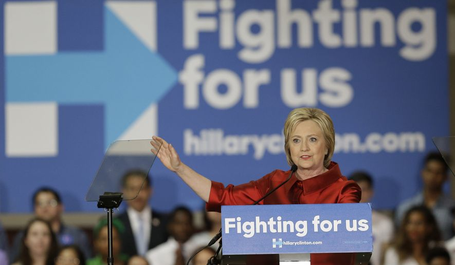 Democratic presidential candidate Hillary Clinton speaks at a rally at Texas Southern University Saturday, Feb. 20, 2016, in Houston. (AP Photo/Pat Sullivan)