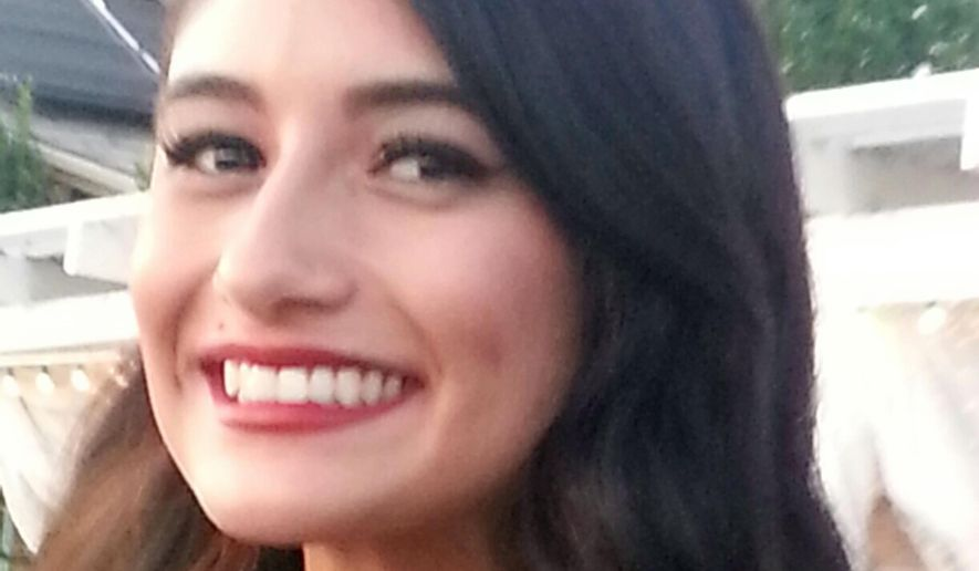 This undated photo provided by George Velasco shows his niece, Yvette Velasco, one of the victims of the Dec. 2, 2015, mass shooting at a social service facility in San Bernardino, Calif. On Monday, Feb. 22, 2016, a lawyer said some victims and their families, including George Velasco, will file documents in support of a U.S. magistrate judge's order that Apple Inc. must help the FBI hack into a locked iPhone as part of the terrorism investigation. (Courtesy of George Velasco via AP)