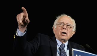 Democratic presidential candidate, Sen. Bernie Sanders, I-Vt., speaks during a campaign rally in Amherst, Mass., in this Feb. 22, 2016, photo. (AP Photo/Steven Senne, File)