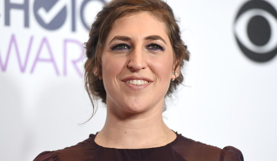 "In this Jan. 6, 2016 file photo, Mayim Bialik poses in the press room after winning favorite network TV comedy for ""The Big Bang Theory"" at the People's Choice Awards in Los Angeles. (Photo by Jordan Strauss/Invision/AP, File)"