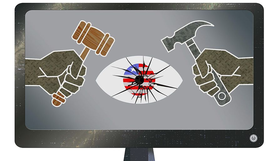 Threat to Federal Cybersecurity Illustration by Greg Groesch/The Washington Times