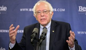 Democratic presidential candidate, Sen. Bernie Sanders, I-Vt. speaks about poverty during a news conference in Columbia, S.C., Wednesday, Feb. 24, 2016, before heading to campaign events in  Missouri and Oklahoma. (AP Photo/Jacquelyn Martin)