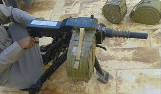 A soviet-era grenade launcher shown for sale on a Facebook page frequented by Al Qaeda-linked buyers. (Image: Facebook/Mirror)
