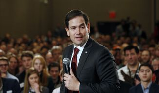 Sen. Marco Rubio will speak at 11:35 a.m. Saturday during the March 2-5 gathering of the Conservative Political Action Conference at National Harbor just outside Washington, D.C. (Associated Press)