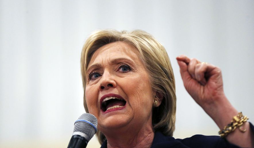 Democratic presidential candidate Hillary Clinton speaks at a campaign event at the Williamsburg County Recreation Center in Kingstree, S.C., Thursday, Feb. 25, 2016. (AP Photo/Gerald Herbert)