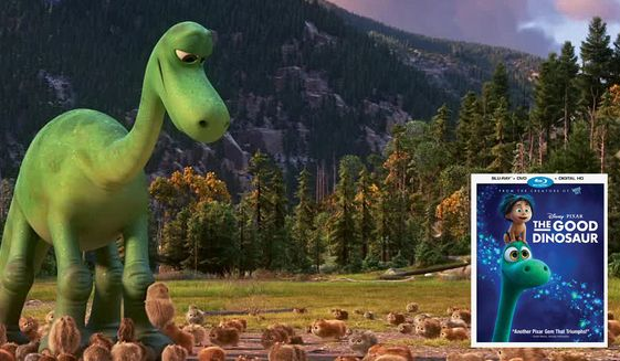 "Arlo and some stunning scenery star in Pixar's ""The Good Dinosaur,"" now available on Blu-ray from Walt Disney Studios Home Entertainment."