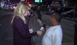 A drunk driver who caused a fatal crash in Los Angeles Monday morning walked up to a local news crew moments later and explained, to the best of his ability, what happened. (FOX11)