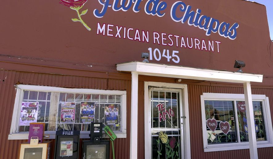 San Antonio musicians gather to play Mexican romantic ballads, rancheras and boleros at Flor de Chiapas restaurant, 1045 Bandera Road on Tuesdays. (Billy Calzada/The San Antonio Express-News via AP)