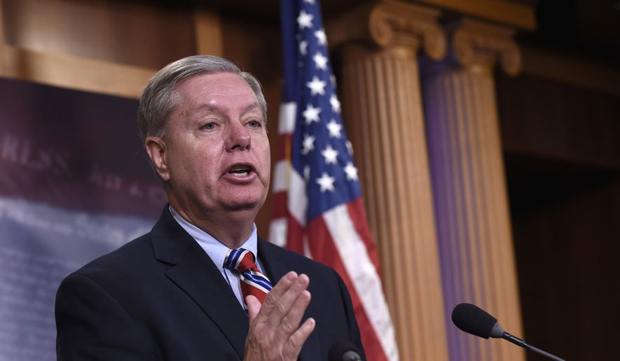 Sen. Lindsey Graham, South Carolina Republican, speaks during a news conference on Capitol Hill in Washington, on Jan. 21, 2016. (Associated Press) **FILE**
