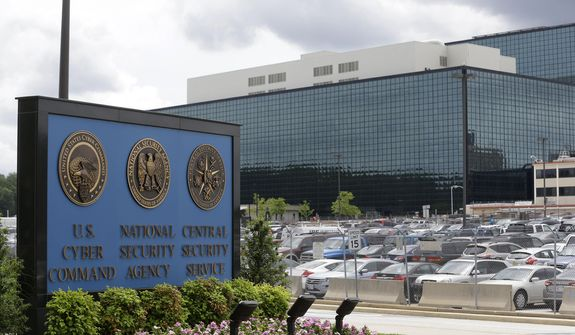 This June 6, 2013, file photo shows the National Security Administration (NSA) campus in Fort Meade, Md., where the US Cyber Command is located.   (AP Photo/Patrick Semansky, File (AP Photo/Patrick Semansky, File) **FILE**