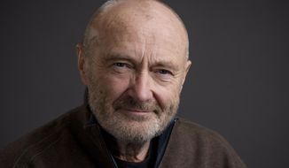 Musician Phil Collins poses for a portrait in New York in this Feb. 2, 2016, file photo. (Photo by Drew Gurian/Invision/AP) ** FILE **