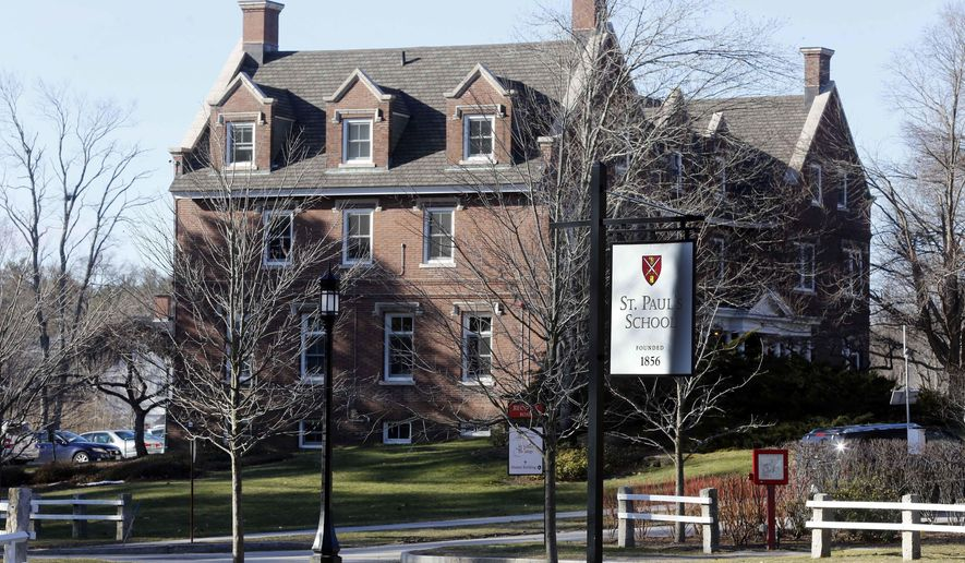 "The entrance to St. Paul's School is seen Friday, Feb. 26, 2016, in Concord, N.H. Six months after a graduate from the prep school was convicted on charges of sexual assault and using a computer to lure a 15-year-old girl for sex, the school is planning a symposium to help educators called ""Empathy, Intimacy and Technology in a Boarding School Environment."" (AP Photo/Jim Cole)"