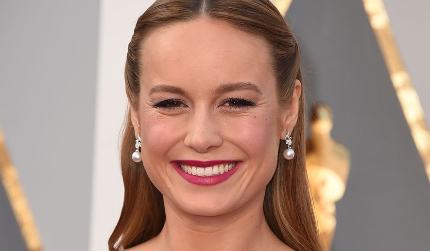 """I grew up with a single mom in a small apartment, and I realize this was a way to [honor] my mother,"" best actress nominee Brie Larson said on the Oscars red carpet. (Associated Press)"