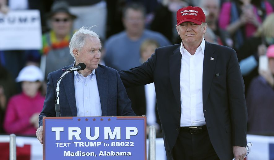 Republican presidential candidate Donald Trump has put Sen. Jeff Sessions of Alabama on his national security team. (Associated Press)