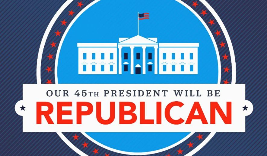 "The current Republican mantra is possibly ""keep calm and carry on,"" despite press predictions of GOP panic. (GOP)"
