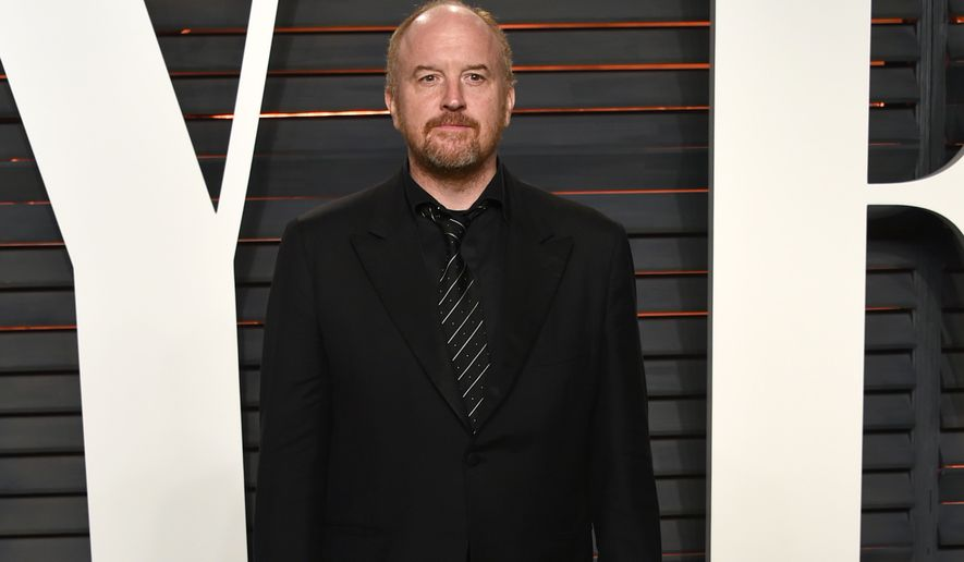 Louis C.K. arrives at the Vanity Fair Oscar Party on Sunday, Feb. 28, 2016, in Beverly Hills, Calif. (Photo by Evan Agostini/Invision/AP)