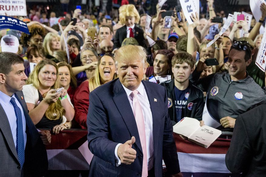 """Donald Trump began celebrating Super Tuesday early at a rally in Valdosta, Georgia. """"Tomorrow is a big day and I want you to lead the pack,"""" he told the crowd at Valdosta State University. """"We are going to have a lot of success."""""""