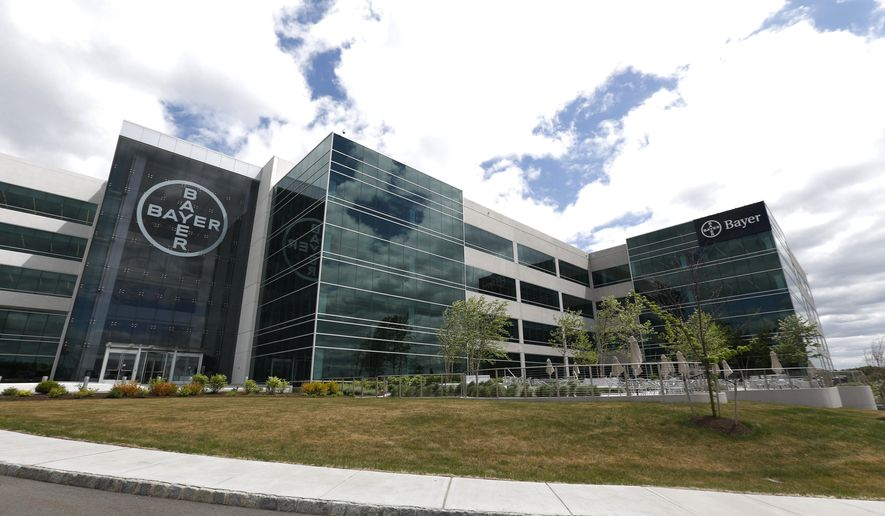 FILE - This Wednesday, May 13, 2015, file photo, shows the North American headquarters of Bayer Healthcare in Whippany, N.J. The Food and Drug Administration announced Monday, Feb. 29, 2016, it plans to warn consumers more strongly about Essure, a contraceptive implant that drew thousands of complaints from women reporting chronic pain, bleeding and other health problems. The FDA is requiring manufacturer Bayer to conduct studies of the device to further assess its risks in different groups of women. (AP Photo/Julio Cortez, File)