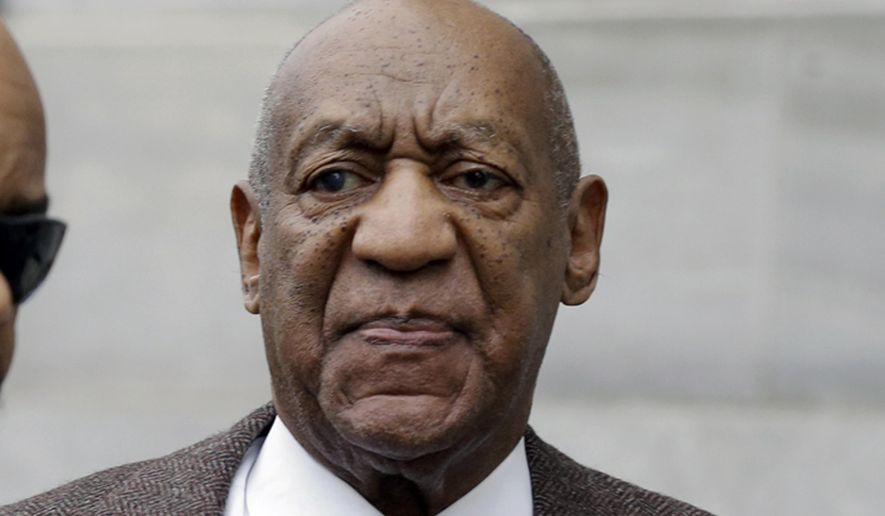 FILE - In this Feb. 3, 2016 file photo, actor and comedian Bill Cosby arrives for a court appearance in Norristown, Pa. Cosby's lawyers are scheduled to argue Monday, Feb. 29, 2016 in Los Angeles that a defamation lawsuit by model Janice Dickinson should be dismissed because she has told differing accounts of a 1982 incident with the comedian. Dickinson has recently said Cosby drugged and raped her in Lake Tahoe, Calif., in 1982, but Cosby's attorneys say her earlier descriptions of Cosby getting angry after she refused to sleep with him show that she is lying and her lawsuit cannot continue. (AP Photo/Mel Evans, File)