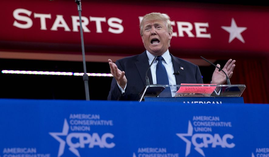 Donald Trump enters the Conservative Political Action Conference as the Republican presidential front-runner, but he still needs to win over millennial voters, who may be key in the general election. (Associated Press)