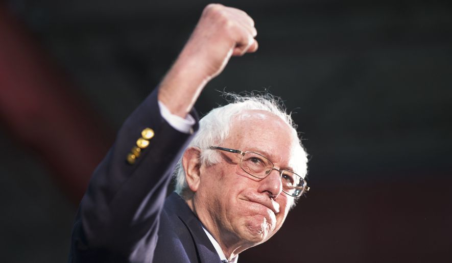 Networks called the contest for Sen. Bernard Sanders moments after voting ended. (Associated Press)