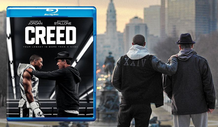 """Michael B. Jordan and Sylvester Stallone star in """"Creed,"""" now available on Blu-ray from Warner Bros. Home Entertainment."""