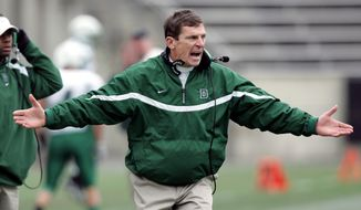 Dartmouth's coach Buddy Teevens reacts on the sidelines during a football game against Princeton, Saturday, Nov. 18, 2006, in Princeton, N.J. Princeton won 27-17.  (AP Photo/Mel Evans)