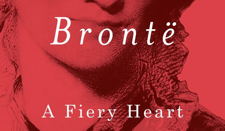 "This book cover image released by Alfred A. Knopf shows, ""Charlotte Bronte: A Fiery Heart"" by Claire Harman. (Alfred A. Knopf via AP)"