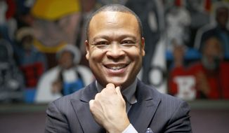 In this Feb. 12, 2016 photo, Democratic Rep. Ken Dunkin poses for a portrait at a community center in Chicago. Dunkin is in one of the two hottest state primary contests in Illinois on March 15 that have power brokers from both parties spending millions to boot their own legislators from office. The challenge faced by Dunkin is seen as indicators of the consequences lawmakers can expect when they defy the wishes of party leaders. (AP Photo/Charles Rex Arbogast)