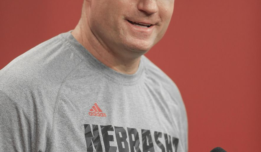 New Nebraska defensive line coach John Parrella speaks at a news conference in Lincoln, Neb., Wednesday, March 2, 2016. Parrella, a former Nebraska defensive tackle under Tom Osborne, played 12 years for three NFL teams, including the San Diego Chargers when Mike Riley was that team's head coach, and was defensive line coach at Division II Northern Michigan the past two seasons. (AP Photo/Nati Harnik)