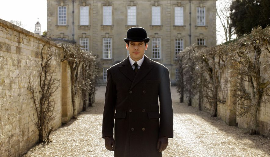 "This image released by PBS shows Robert James-Collier as Thomas from the final season of ""Downton Abbey."" The series finale airs in the U.S. on Sunday. (Nick Briggs/Carnival Film & Television Limited 2015 for MASTERPIECE via AP)"