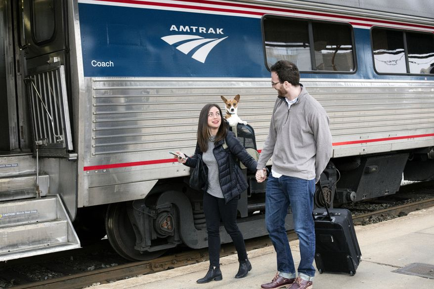 IMAGE DISTRIBUTED FOR AMTRAK - Amtrak's pets on trains program expands to more routes across the country on Wednesday, Feb. 3, 2016. (Chuck Gomez/Amtrak via AP Images)