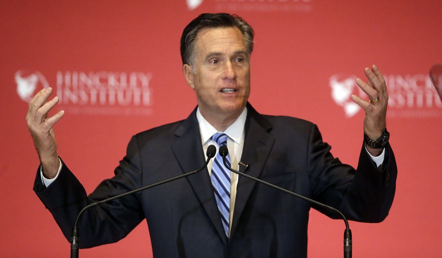 Former Republican presidential candidate Mitt Romney has been critical of front-runner Donald Trump on Twitter in recent weeks and has yet to endorse any of the candidates. (AP Photo/Rick Bowmer)