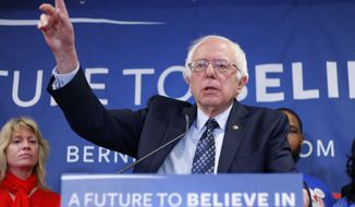 Democratic presidential candidate, Sen. Bernie Sanders, I-Vt., speaks during a news conference on trade policies, Thursday, March 3, 2016, in Lansing Township, Mich. (AP Photo/Al Goldis)