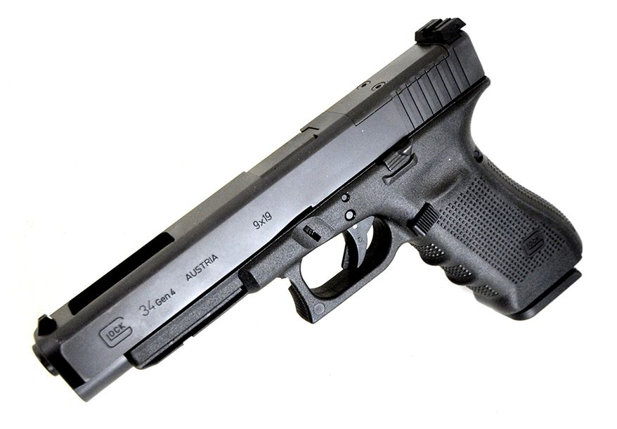 GLOCK 34 -Obtaining the greatest accuracy for target shooting was the main reason for the development of the GLOCK 34 which has an extended barrel, greater slide dimensions, and unmatched reliability in a 9x19mm pistol. This highly accurate pistol has found widespread use as a competitive pistol for USPSA, IDPA, IPSC, GSSF and other sport shooting organizations