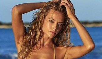 Sports Illustrated model Hannah Ferguson said growing up in a military family has made her plenty familiar with guns, and she thinks people who argue against private gun ownership should better educate themselves on its benefits. (Instagram/@hannahfergusonofficial)