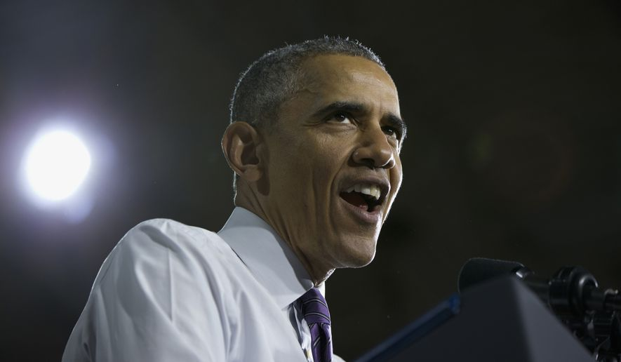President Barack Obama speaks about the Affordable Care Act, Thursday, March 3, 2016, at the United Community Center in Milwaukee. (AP Photo/Carolyn Kaster)