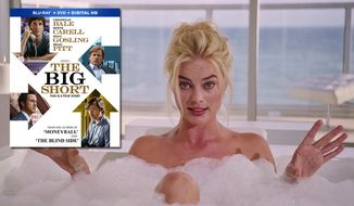 """Actress Margot Robbie explains mortgage bonds while taking a bubble bath in """"The Big Short,"""" soon to be available on Blu-ray from Paramount Home Entertainment."""