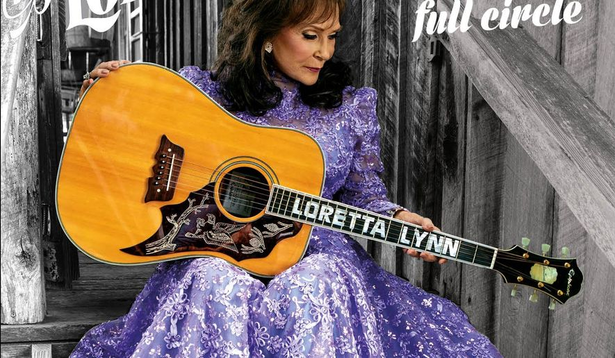 "This CD cover image released by Sony Legacy shows ""Full Circle,"" a release by Loretta Lynn. (Sony Legacy via AP)"