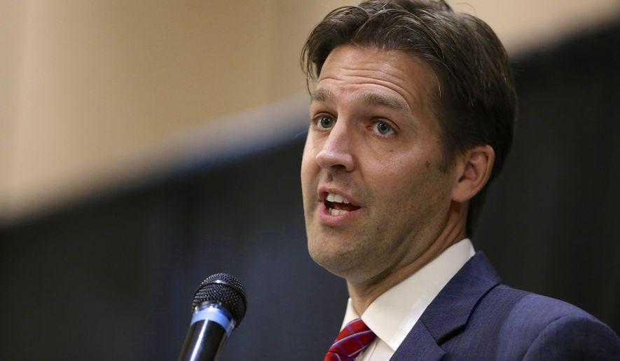 In this Oct. 22 2014, file photo, then-Nebraska Republican Senate candidate, now Sen. Ben Sasse, R-Neb. speaks in Lincoln, Neb. (AP Photo/Nati Harnik, File)