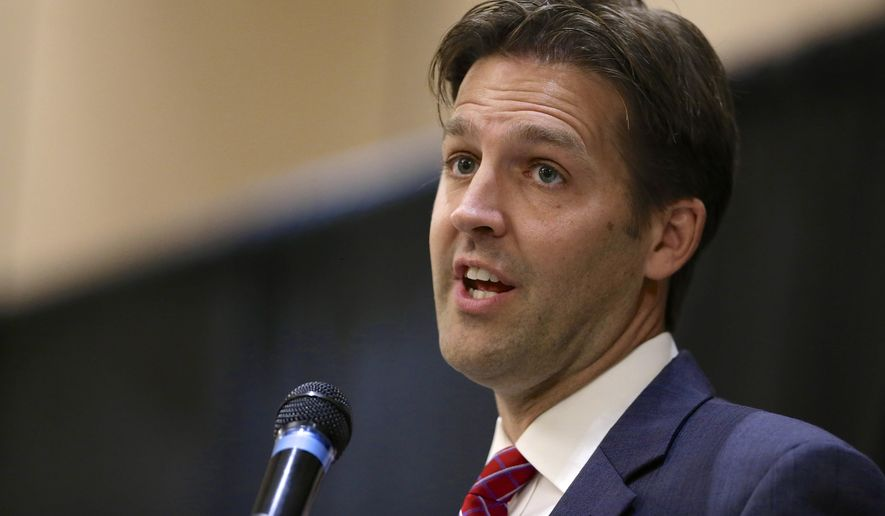 In this Oct. 22 2014, file photo, then-Nebraska Republican Senate candidate, now Sen. Ben Sasse, R-Neb. speaks in Lincoln, Neb. (AP Photo/Nati Harnik, File)
