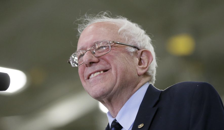 Sen. Bernard Sanders beat Hillary Clinton by a margin of nearly 2 to 1 in the Maine Democratic caucuses. (Associated Press)