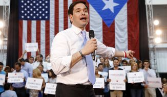 Puerto Rico marks the second primary win for Sen. Marco Rubio of Florida, who trails far behind front-runner Donald Trump and Texas Sen. Ted Cruz in the race for delegates to secure the nomination. (Associated Press)