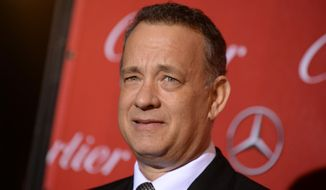 Tom Hanks arrives at the Palm Springs International Film Festival Awards Gala in Palm Springs, Calif., in this Jan. 4, 2014, file photo. (Photo by Jordan Strauss/Invision/AP, File)
