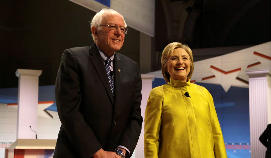 Backers of Vermont Sen. Bernard Sanders say the superdelegate system unfairly favors his opponent, former Secretary of State Hillary Clinton. (Associated Press) ** FILE **