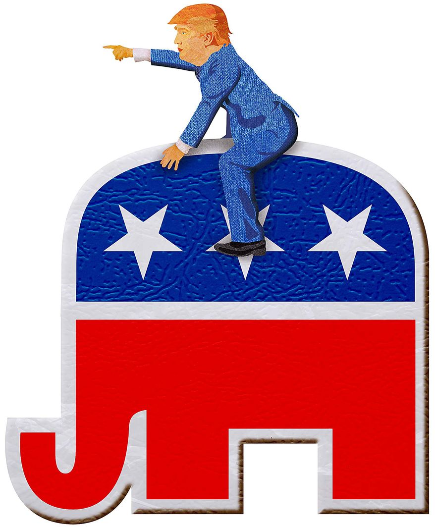 The Trumphant: Hijacking the Republican Party Illustration by Greg Groesch/The Washington Times