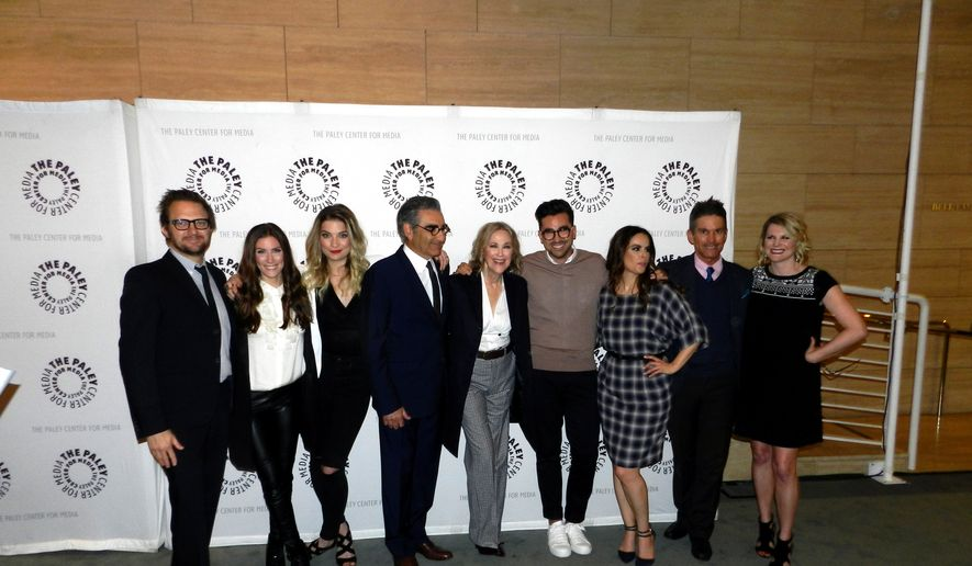 "The cast of ""Schitt's Creek.""  (Dave Kapp)"